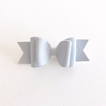 Powder Blue Double Bow Hair Clip