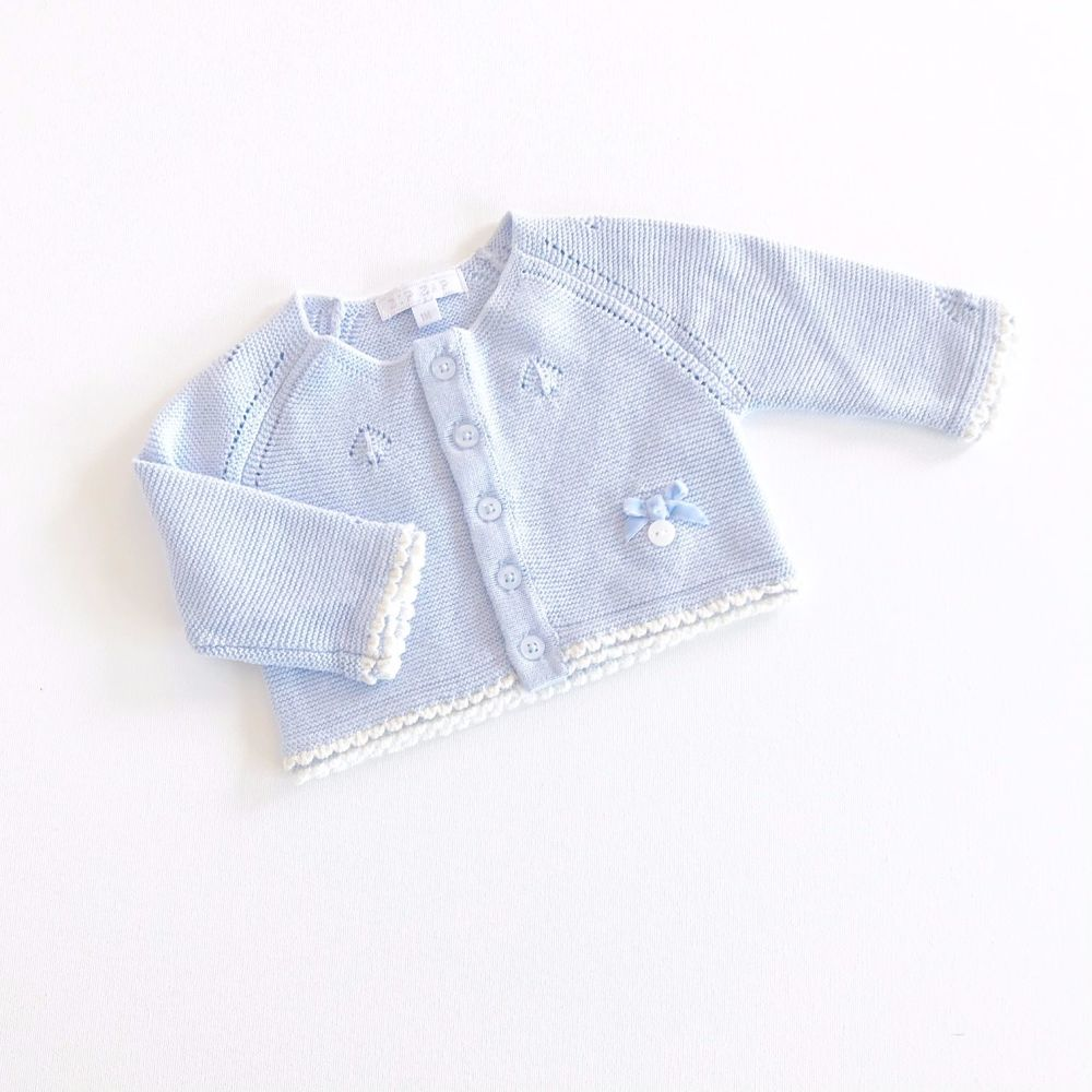 Emerson Vintage Style Knitted Cardigan - Blue