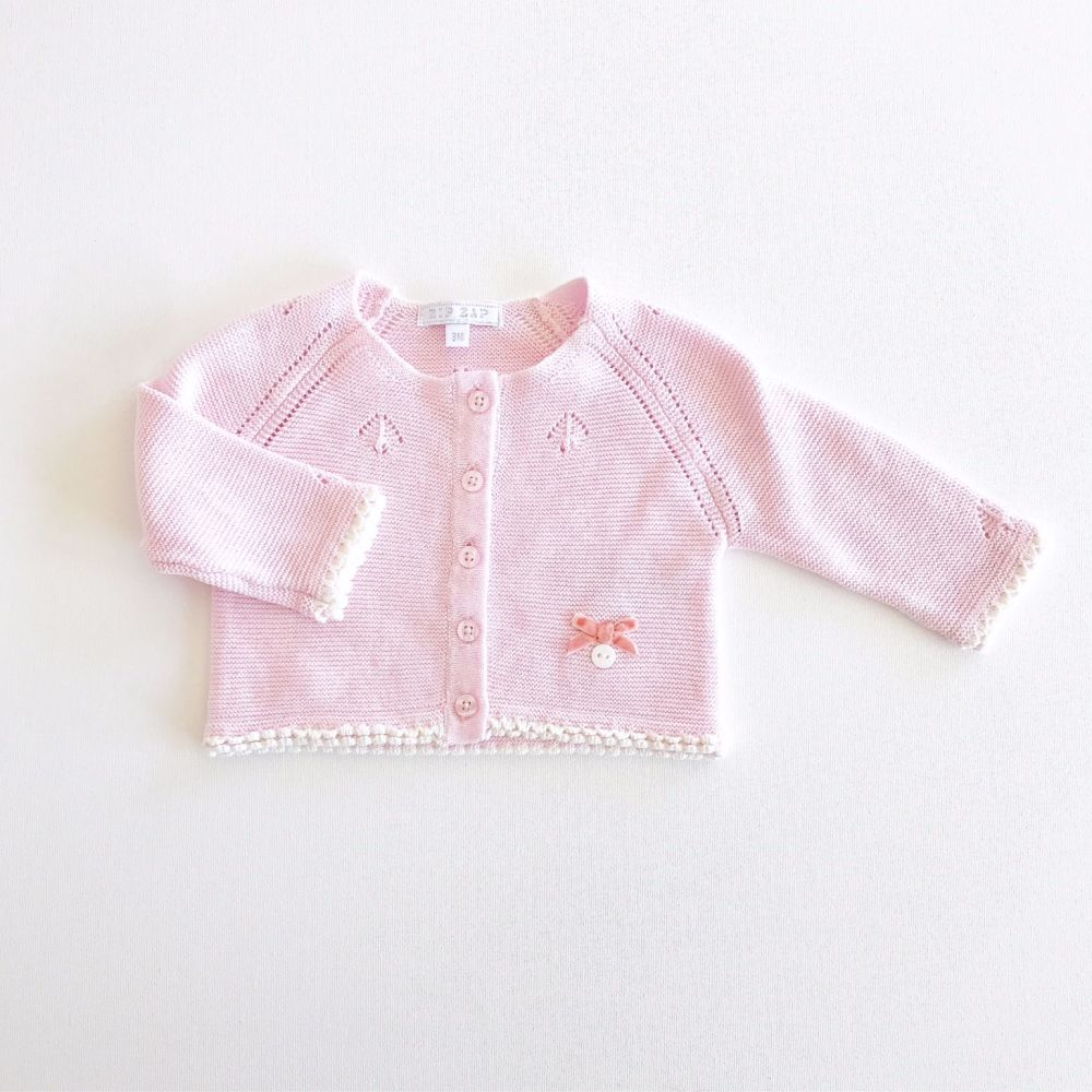 Emerson Vintage Style Knitted Cardigan - Pink