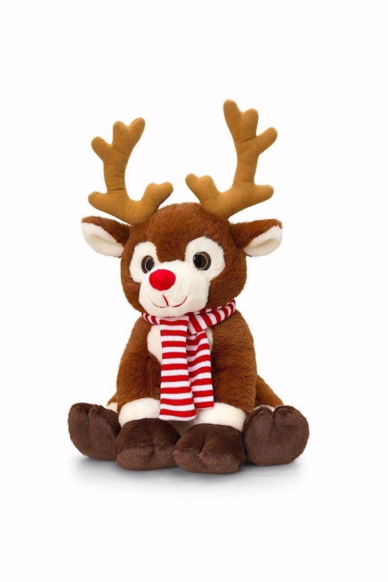 20cm Rudolph Christmas Reindeer With Scarf