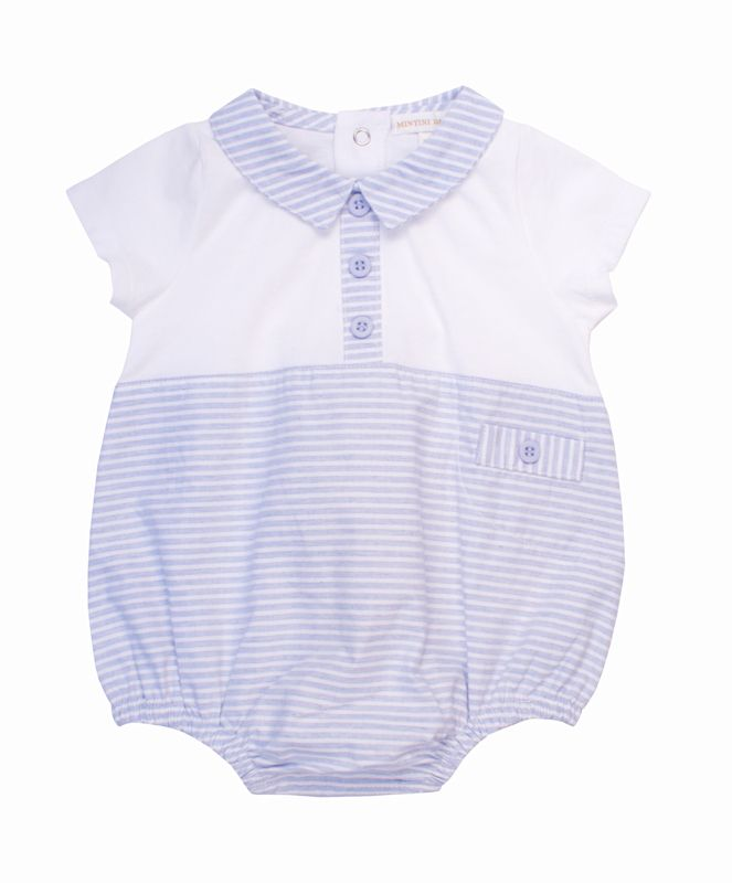 NEW SEASON Jasper Blue & White Pinstripe Shortie