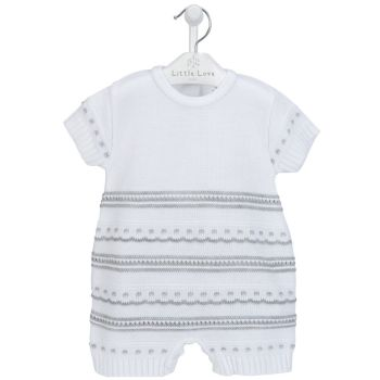 Jesse Knitted Romper - Grey
