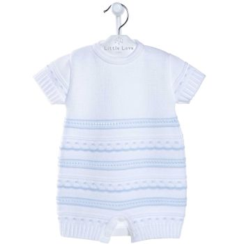 Jesse Knitted Romper - Blue