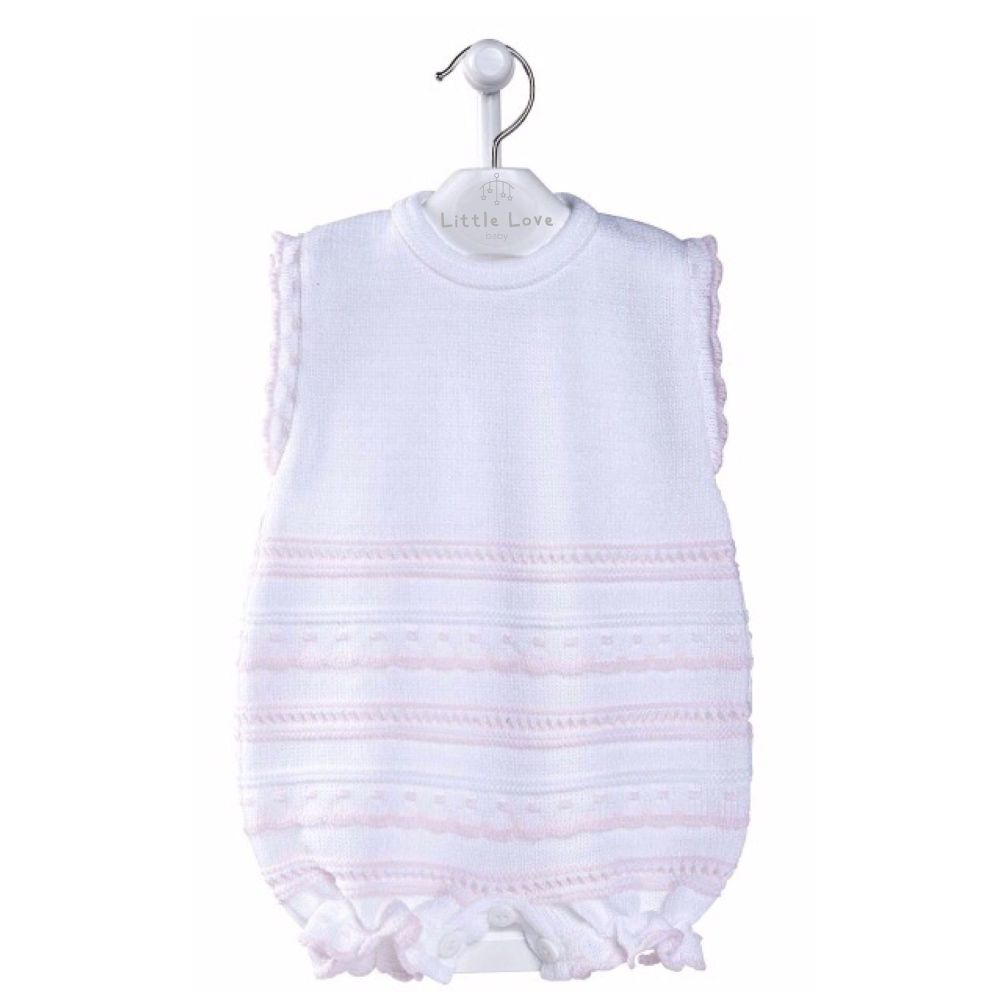 NEW SEASON - Jessica Knitted Romper - Pink