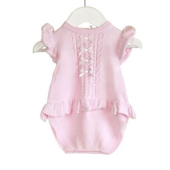 NEW SEASON - Aria Knitted Romper - Pink