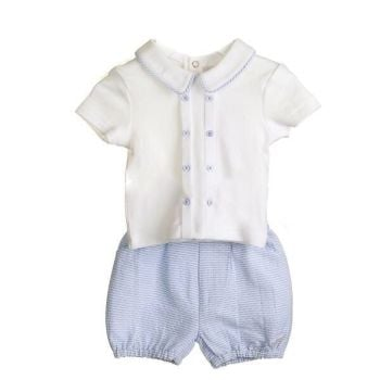Chester Woven Cotton Shorts & Shirt Set