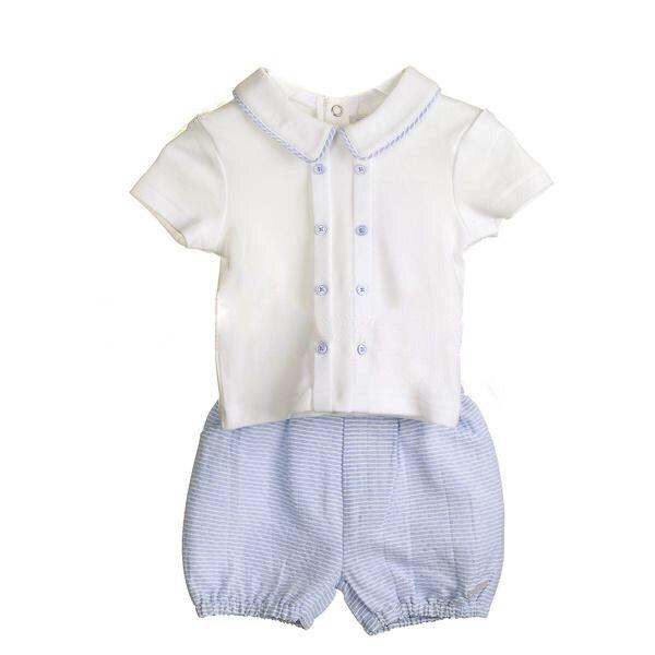 NEW SEASON - Chester Woven Cotton Shorts & Shirt Set