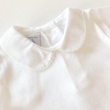 Babidu Peter Pan Collar Bodysuit - Cream