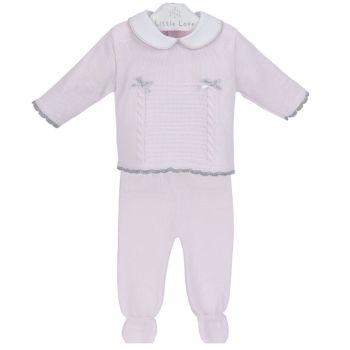 NEW SEASON - Meghan Knitted Jumper & Leggings Set - Pink