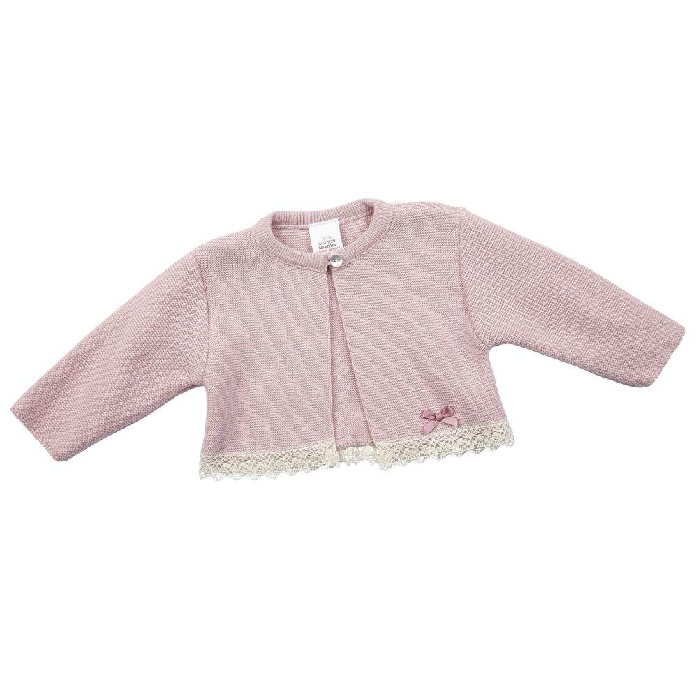 NEW SEASON - Nora Knitted Cotton Bolero - Rose