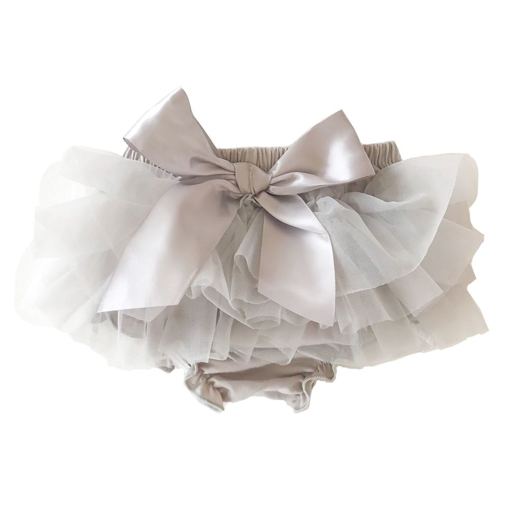 NEW SEASON - Tutu Bloomers With Bow - Grey