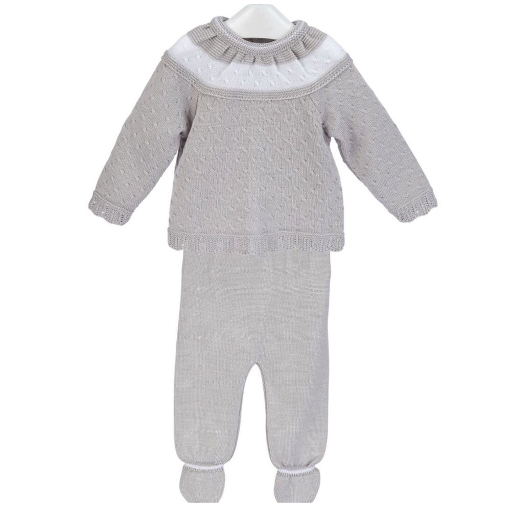 NEW SEASON - Maddox Knitted Jumper & Leggings Set - Grey
