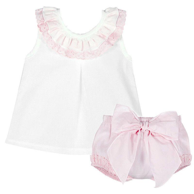 NEW SEASON - Amelia Frill Cami & Pants Set - Pink