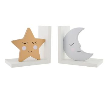 Moon & Star Bookends