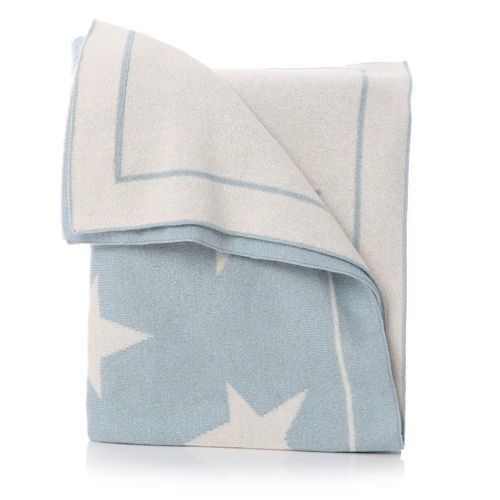 Cotton Star Blanket - Blue