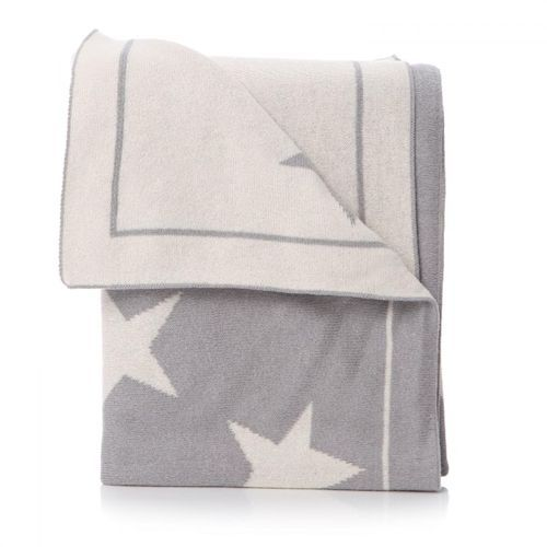 Cotton Star Blanket - Grey