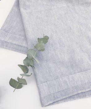 Fine Knitted Shawl - Grey