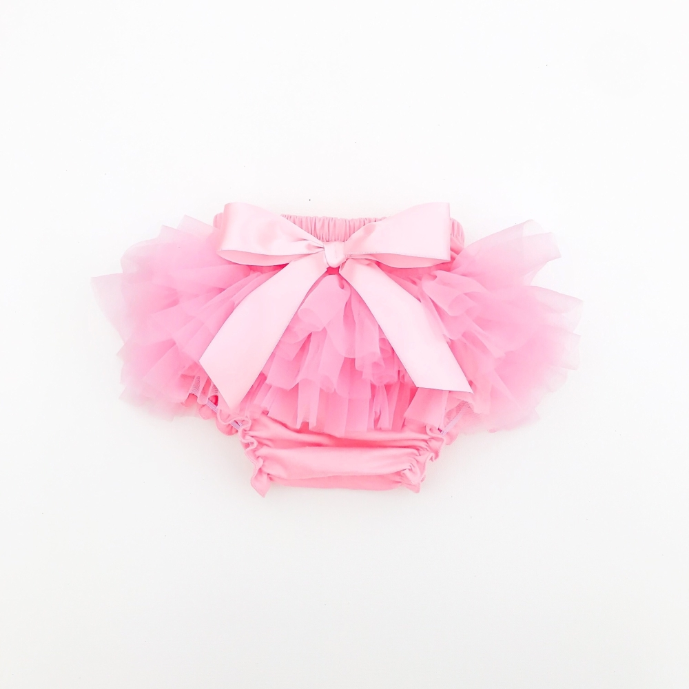 NEW - Tutu Bloomers With Bow - Candy Floss