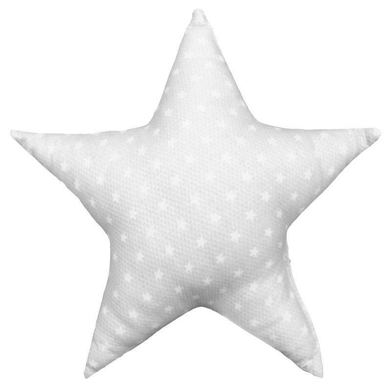 Soft Cotton Grey Star Cushion