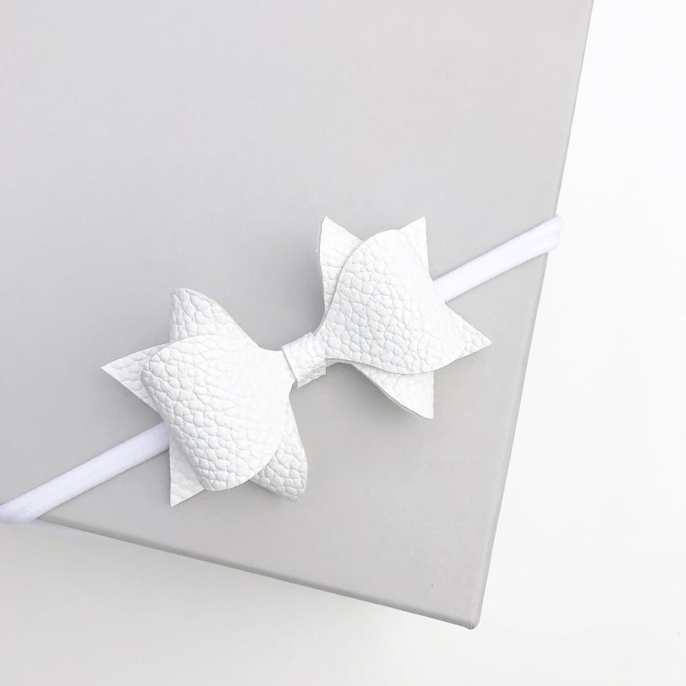 NEW Luxe Bow Headband - Angel