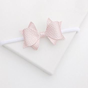 NEW Luxe Bow Headband - Pink Frost