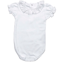 Soft Cotton Frill Neck Bodysuit