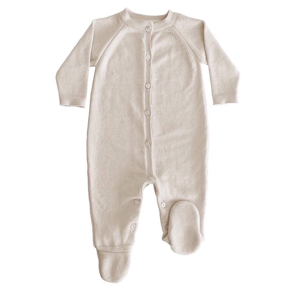 Blair Knitted Baby Grow - Beige