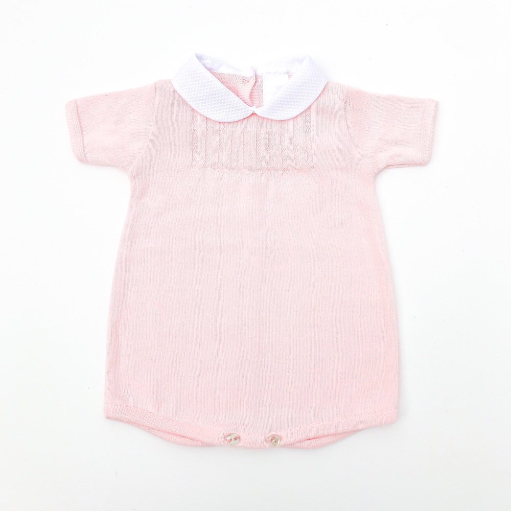 Perry Knitted Romper - Pink