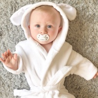Little Bunny Dressing Gown - White