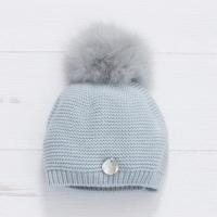 Pangasa Baby Fur Pom Hat - Blue