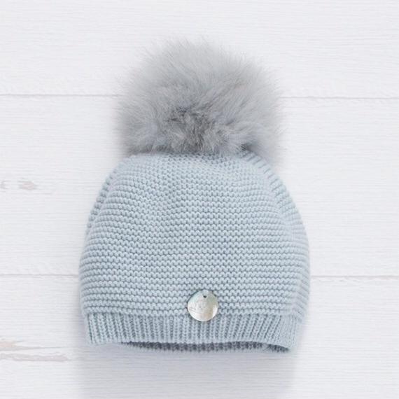 PREORDER Pangasa Baby Fur Pom Hat - Blue