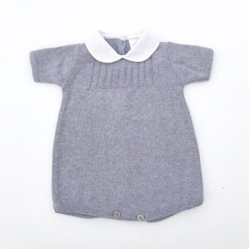 Perry Knitted Romper - Grey