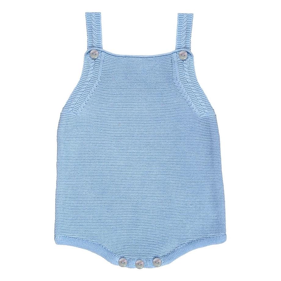 Arden Knitted Romper - Blue