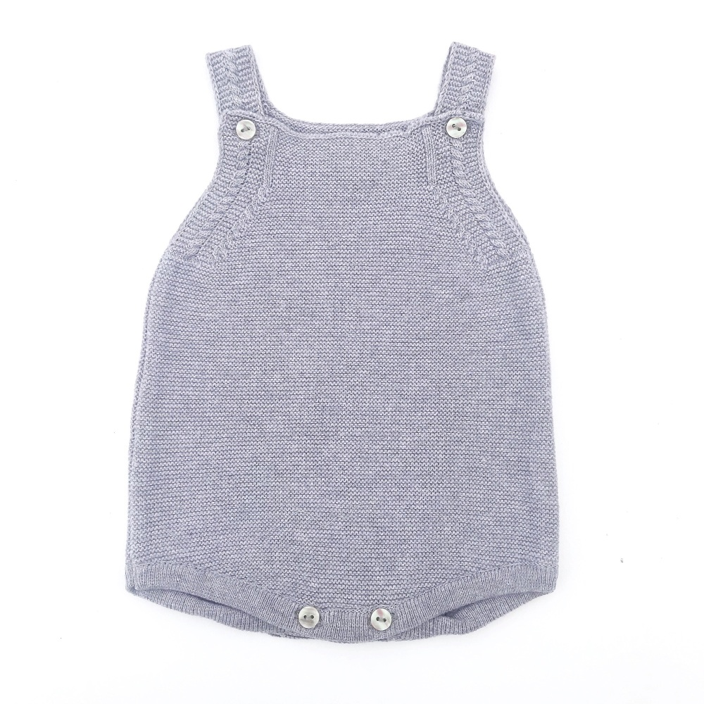 Arden Knitted Romper - Grey