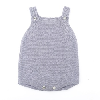 Arden Knitted Romper - Grey