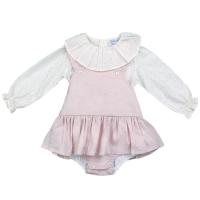 Luella Frill Neck Blouse & Dress - Pink
