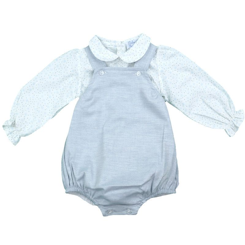 Lucas Romper & Shirt Set - Blue
