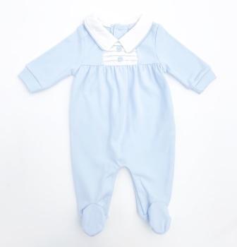 Bodhi Pintuck BabyGrow - Blue
