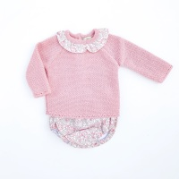 Ivy Knitted Jumper & Jam Pants Set - Rose