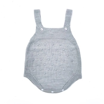 Eden Knitted Romper - Grey