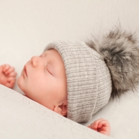 My First Fur Pom Hat - Grey