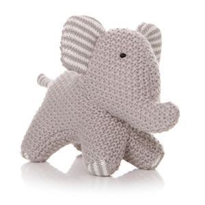 Little Knitted Elephant Teddy - Grey