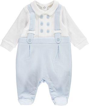 Grayson Buttons & Braces Babygrow - Blue