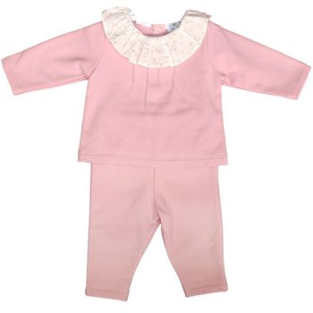 Sienna Frill Neck Top & Pants Set - Rose