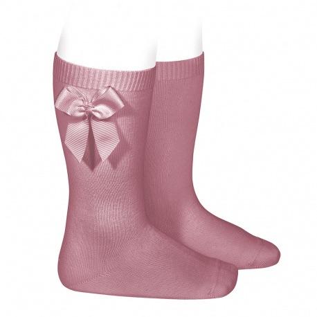 Knee High Socks With Bow - Sweet Pea
