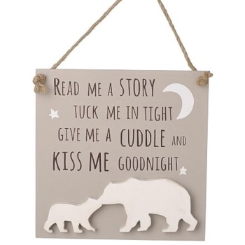 Kiss Me Goodnight Wooden Plaque