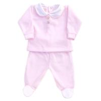Wynne Velour Top & Pants Set - Pink