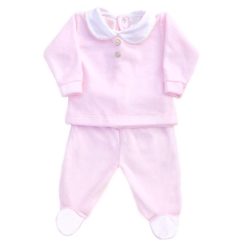 Wynne Velour Top & Pants Set - Pink