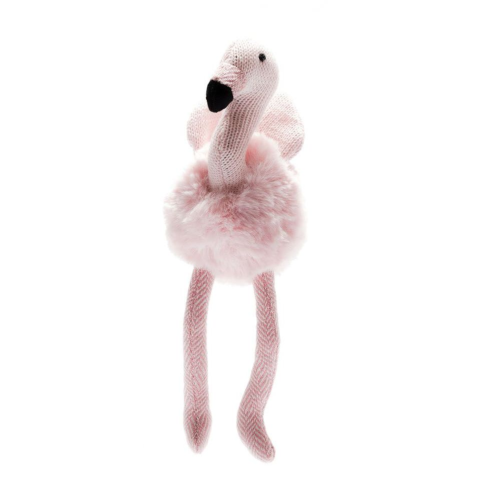 Pink Flamingo Baby Rattle - Pink