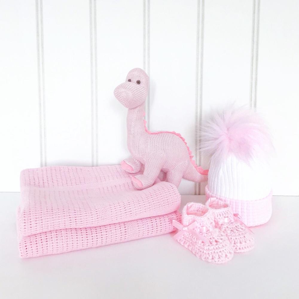 Baby Dino Gift Set - Pink